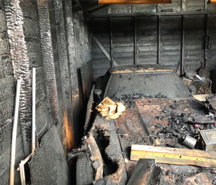 contents in garage burned