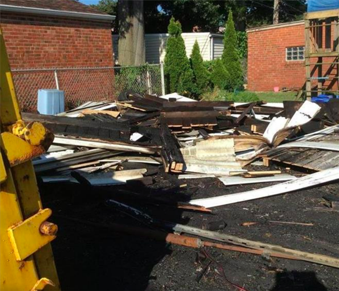 garage torn down after fire