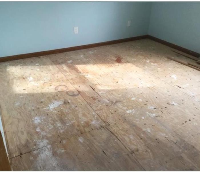 hardwood floor removed after water damage