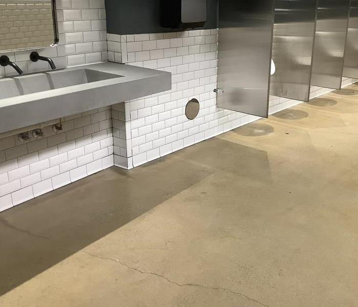 sewage removed from bathroom floor