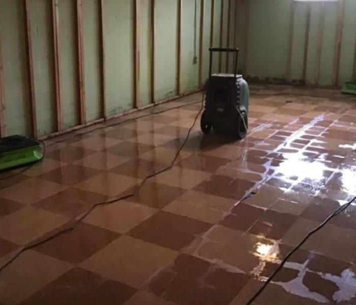 basement cleaned after sewage back up