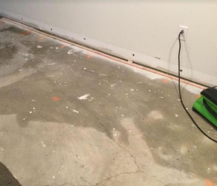 holes drilled in walls after water damage