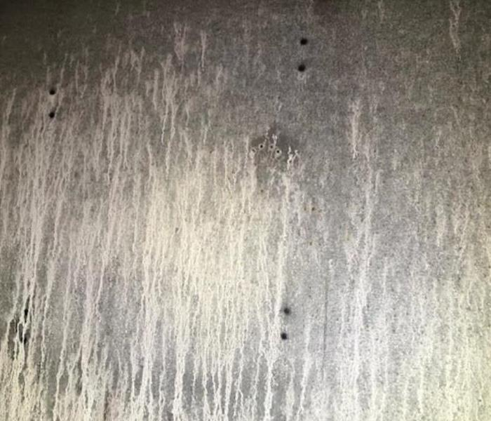 soot covering wall